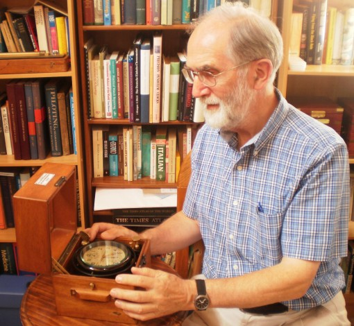 Bill Morris with a 1942 Wempe chronometer