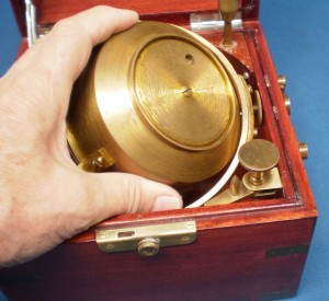Figure 4 : Dust cover and key hole revealed.