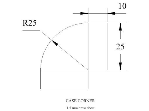 Figure 3: Dimensions of a corner.