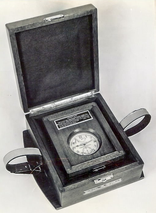 Figure 1: Non-Gimballed watch in case and transporting case.