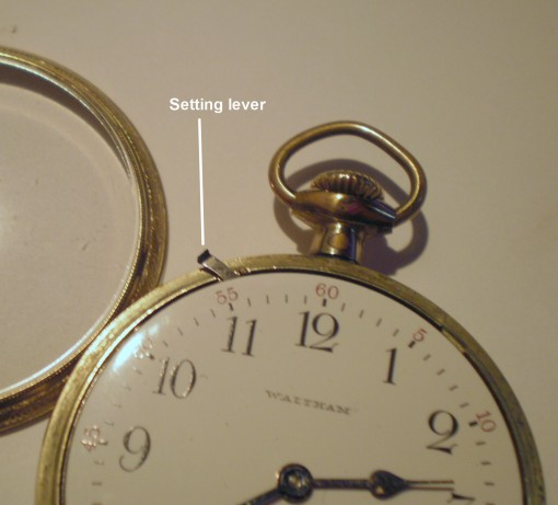 Figure 7: Setting lever of Waltham Vanguard watch.