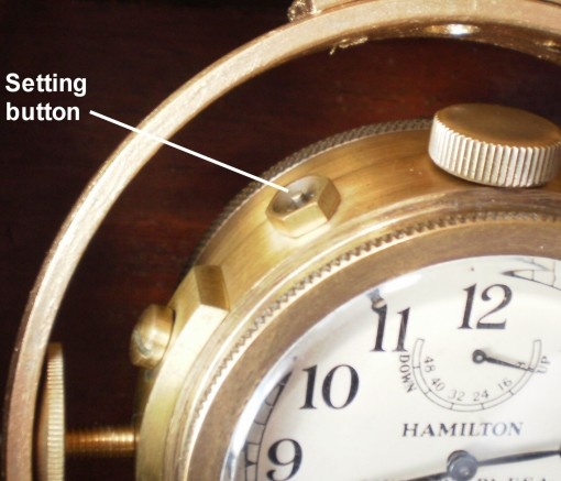 Figure 7: Safety setting button of M22 watch.