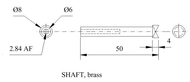 Tipsy key shaft drwg